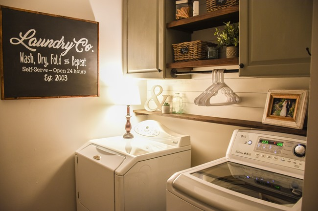 Farmhouse style Laundry room makeover (for under $100)-20