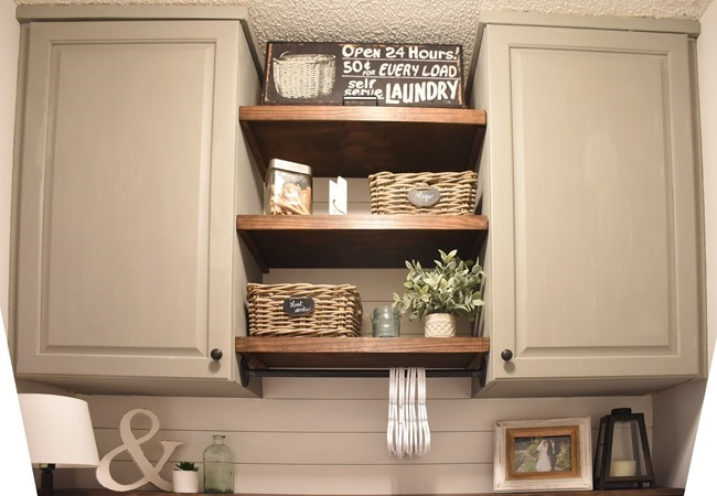 Farmhouse style Laundry room makeover (for under $100)-7