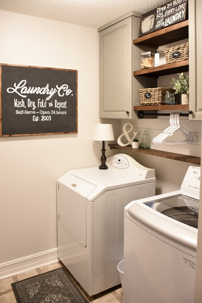 Farmhouse Style Laundry Room Makeover For Under 100 9