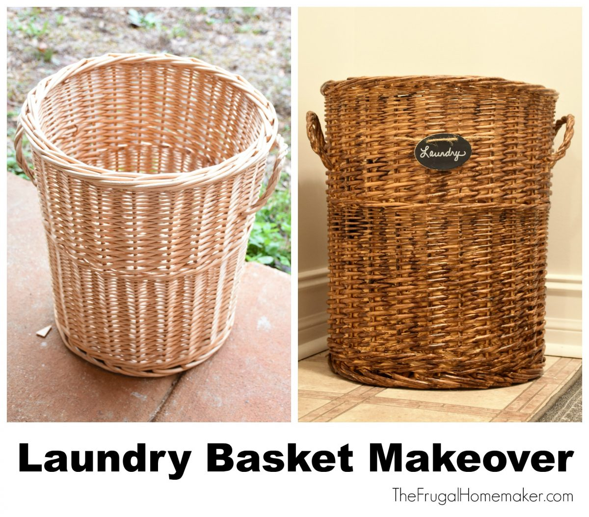Laundry room basket makeover ($100 room challenge)