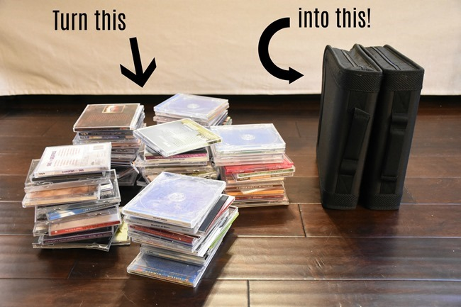 How to organize CD's or DVD's (and reduce clutter!)