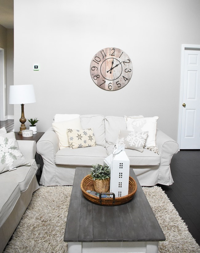Winter mantel and winter living room-11