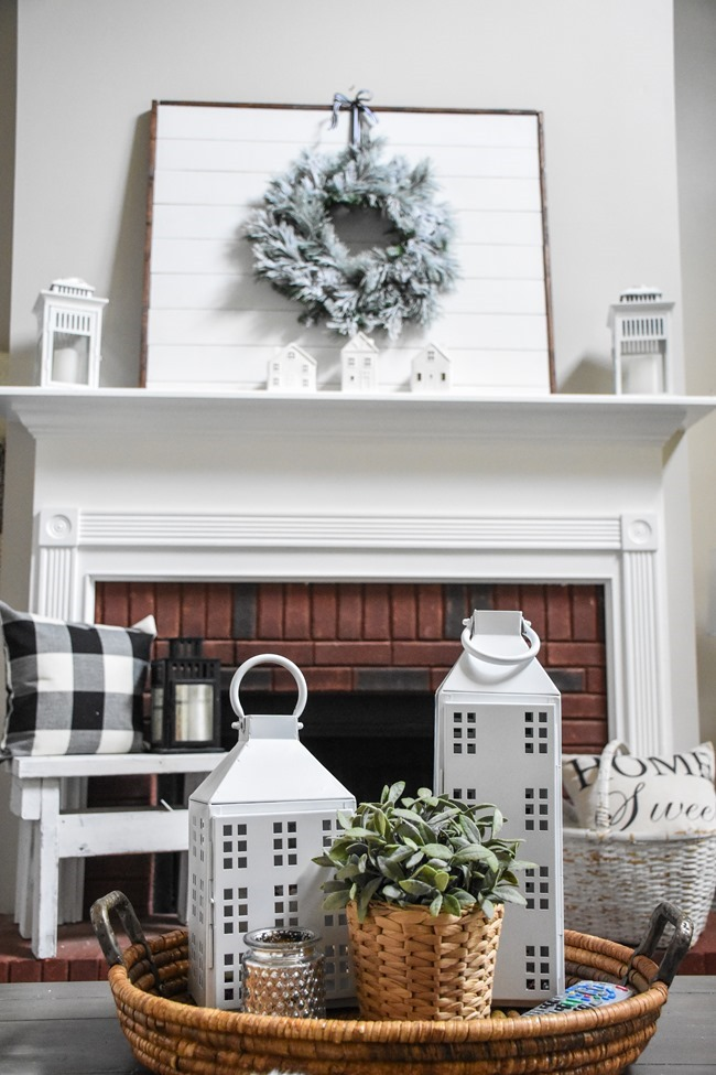 Winter mantel and winter living room-15
