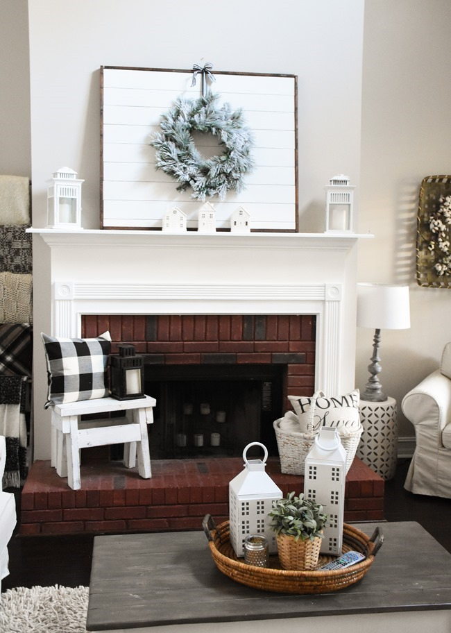 Winter mantel and winter living room-2