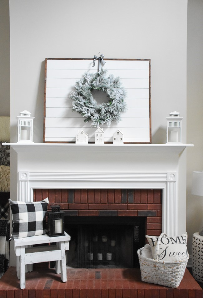 Winter mantel and winter living room-21