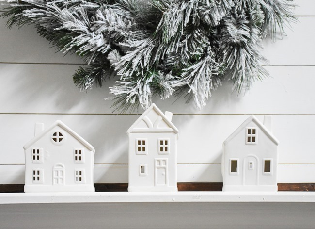 Winter mantel and winter living room-22