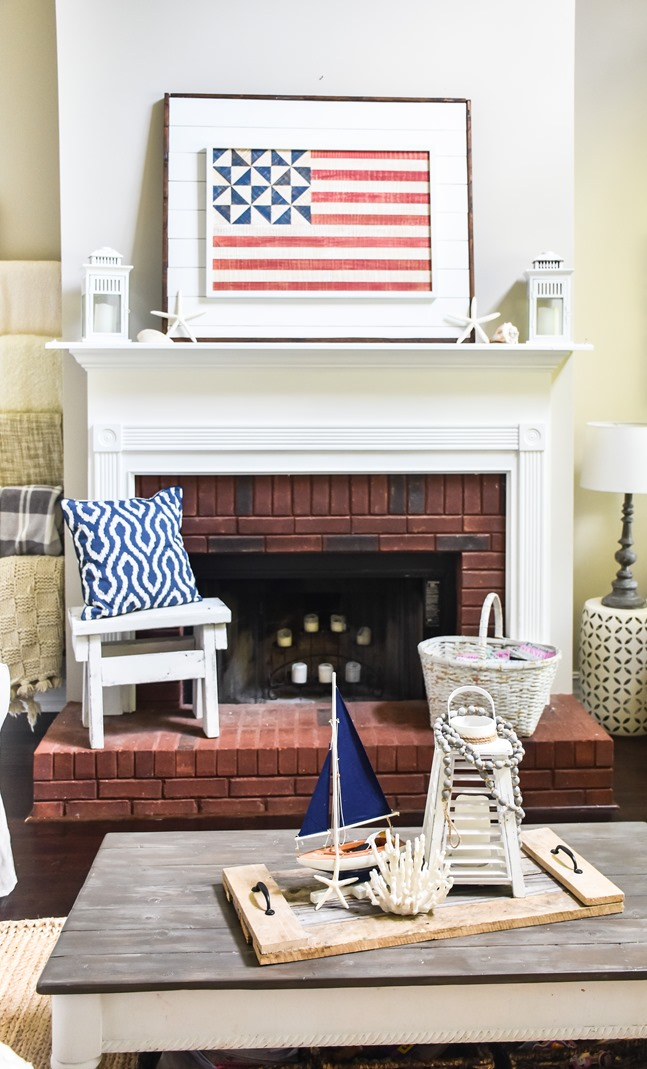 Patriotic Coastal Summer Mantel