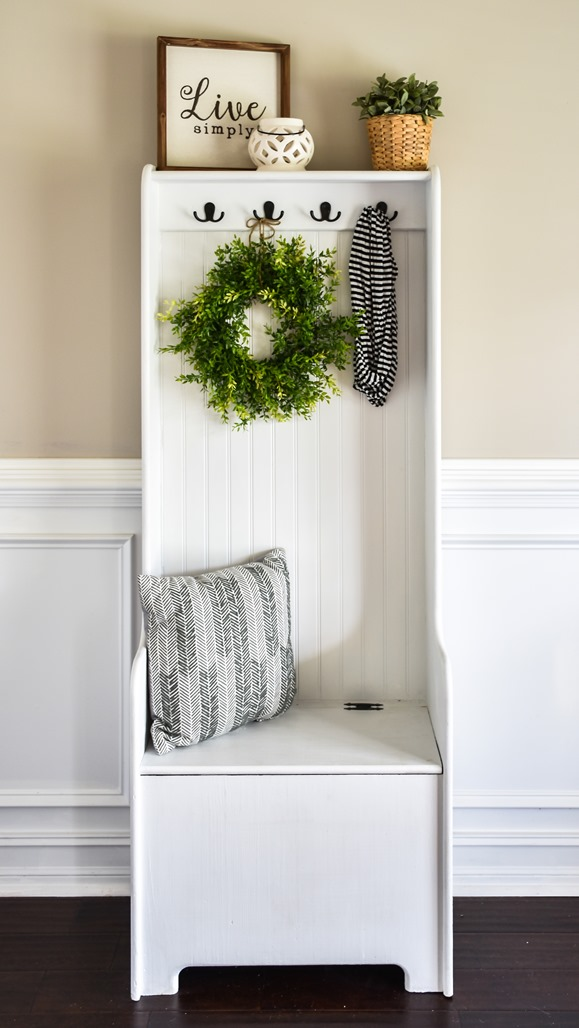 DIY Farmhouse Hall Tree (entryway bench) (3 of 10)