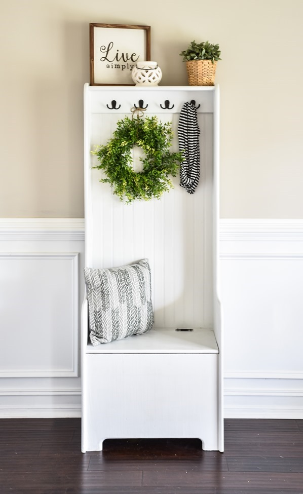 DIY Farmhouse Hall Tree (entryway bench) (4 of 10)