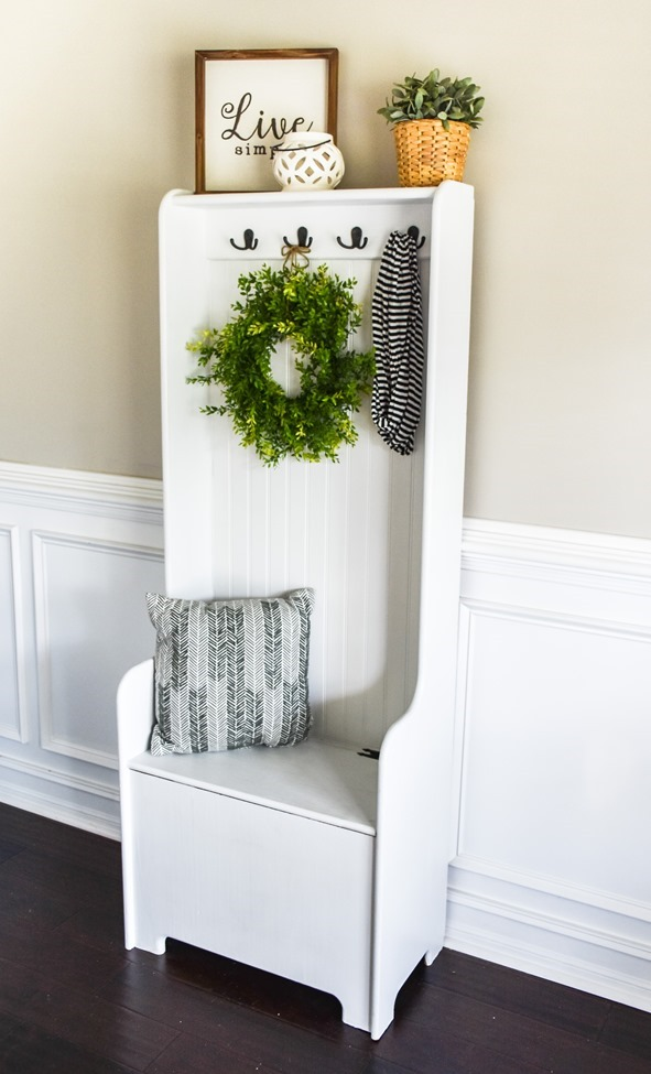 DIY Farmhouse Hall Tree (entryway bench) (6 of 10)