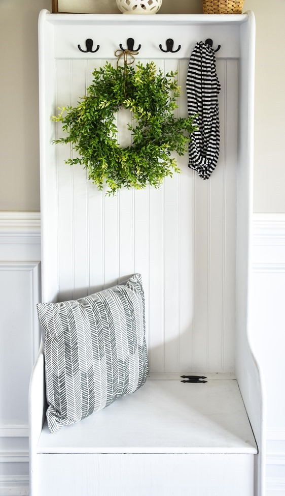 DIY Farmhouse Hall Tree (entryway bench) (7 of 10)