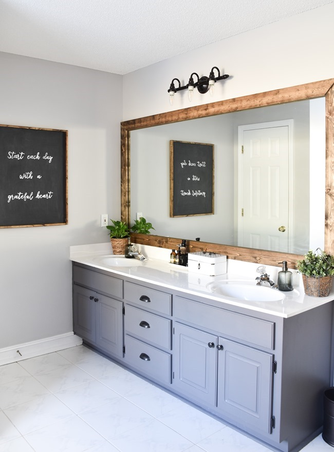 Farmhouse Master Bathroom Makeover done for $100! (14 of 31)