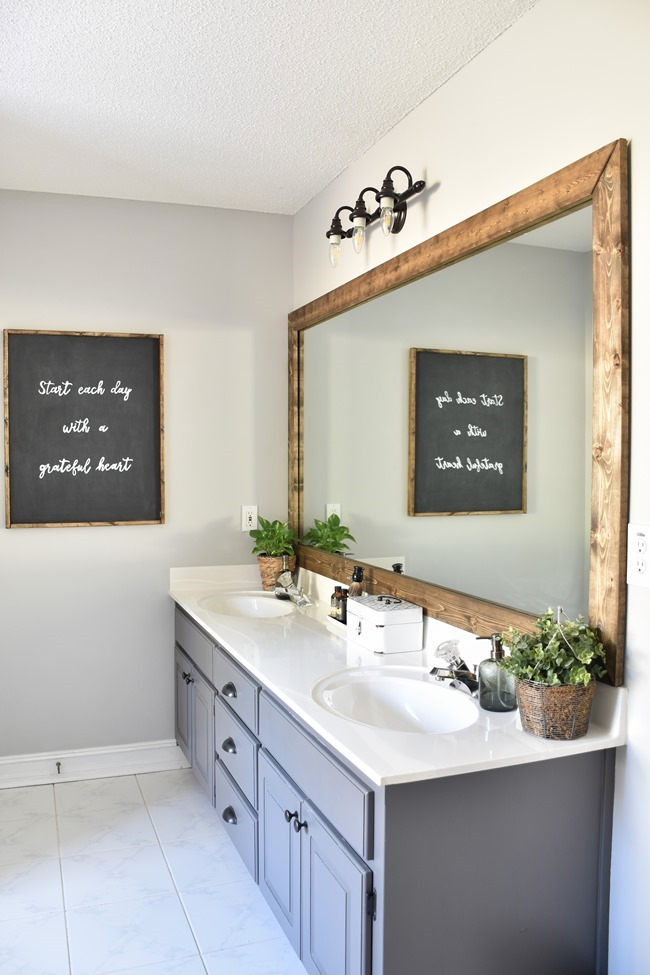 Farmhouse Master Bathroom Makeover done for $100! (3 of 31)