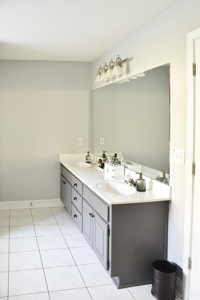 Master Bathroom vanity painted gray (8 of 9)