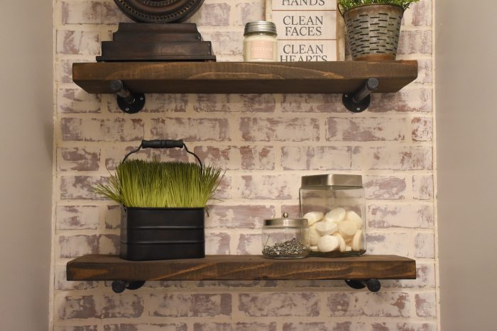 Diy Rustic Wood Shelves Diy Toilet Paper Holder Made With