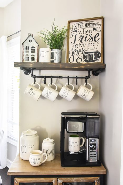 Diy Floating Shelf And Mug Rack