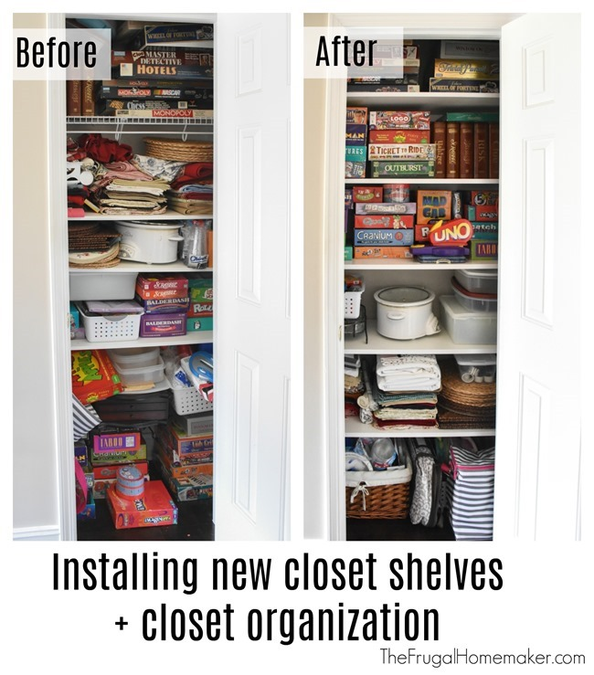 Installing new closet shelving and closet organization