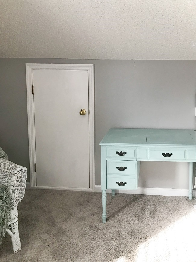Painted furniture and painted trim in bonus room-5