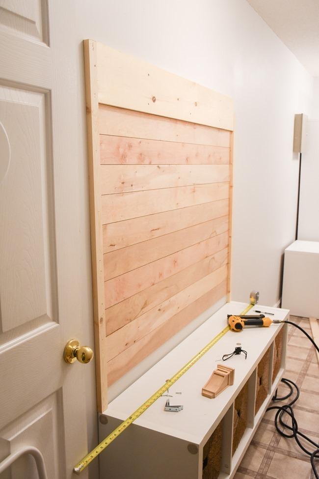 DIY Shiplap Hall Tree Bench-5