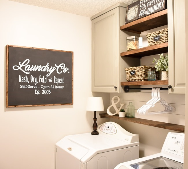 Farmhouse style Laundry room makeover (for under $100)-5