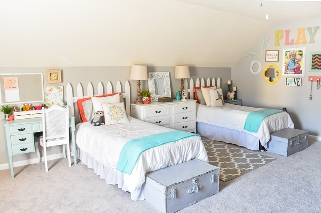 Girls cottage themed bedroom and playroom makeover-10