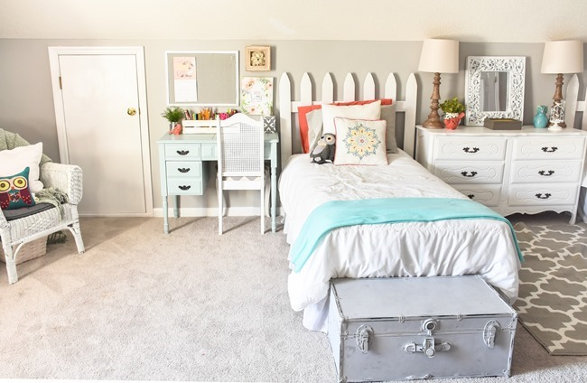 Girls cottage themed bedroom and playroom makeover-13