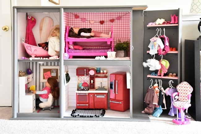 Girls cottage themed bedroom and playroom makeover-25