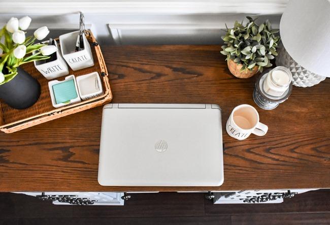 Thrift store desk makeover with Rustoleum Milk Paint-13