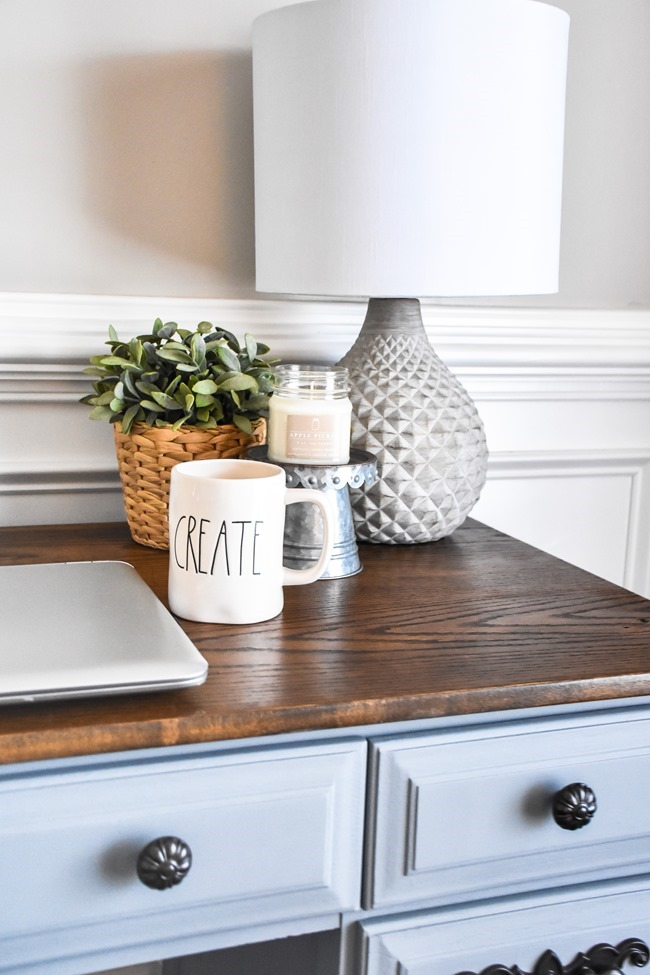 Thrift store desk makeover with Rustoleum Milk Paint-15