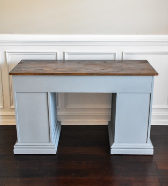 Thrift store desk makeover with Rustoleum Milk Paint-20