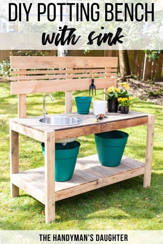 DIY-Potting-Bench-with-Sink