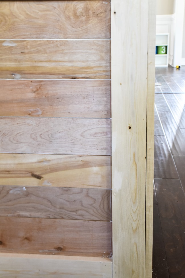 How to shiplap a kitchen penisula or kitchen island-10