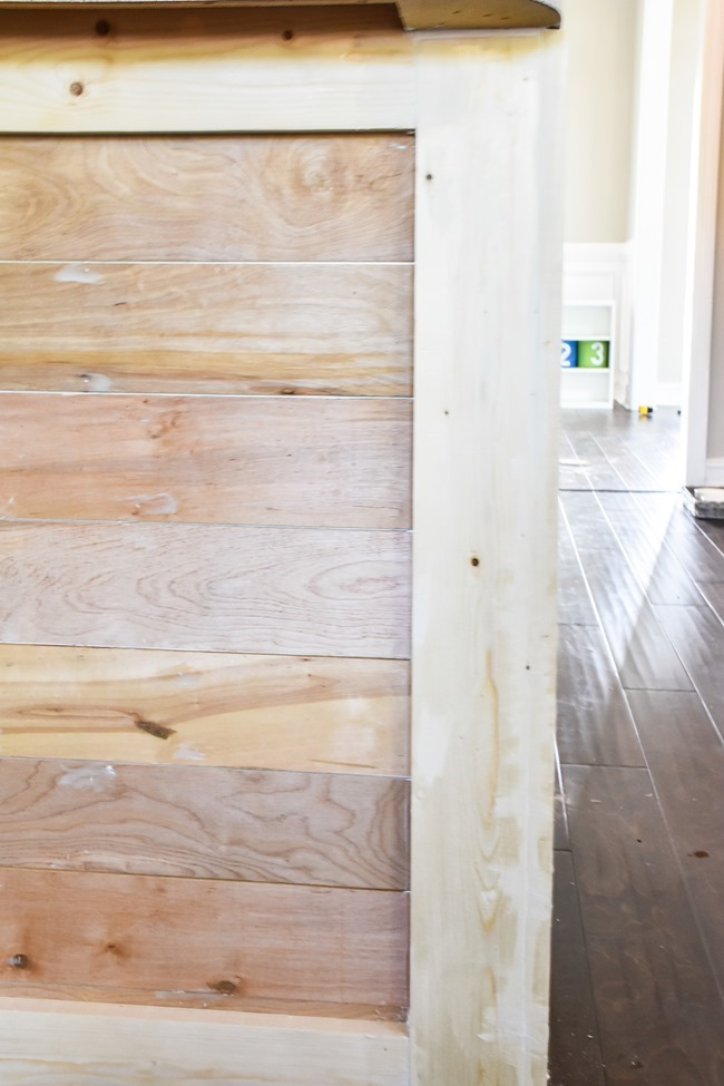 How to shiplap a kitchen penisula or kitchen island-13