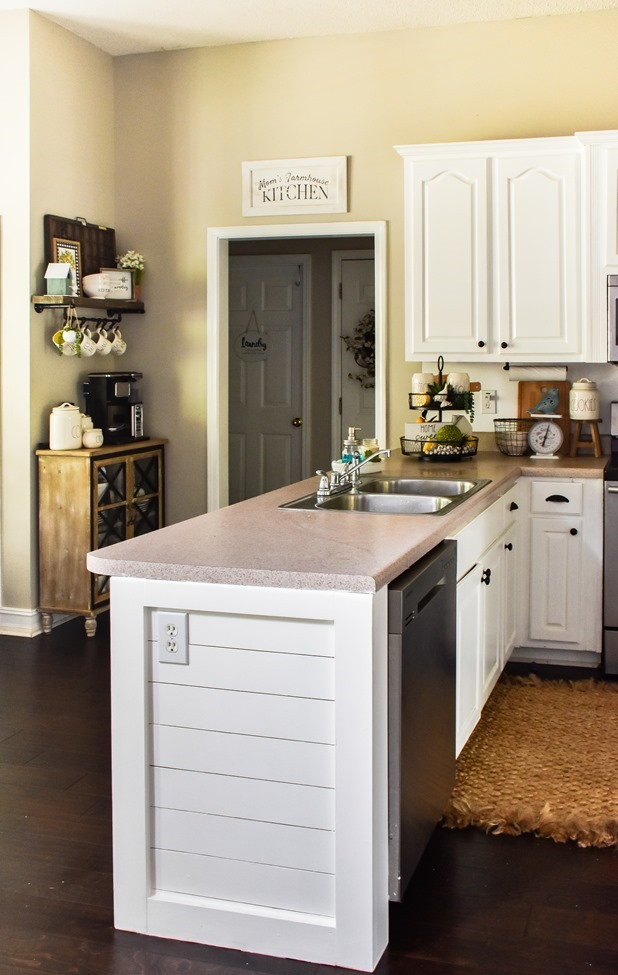 How to shiplap a kitchen penisula or kitchen island-21