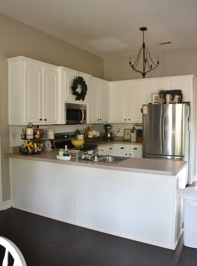 How to shiplap a kitchen penisula or kitchen island-4