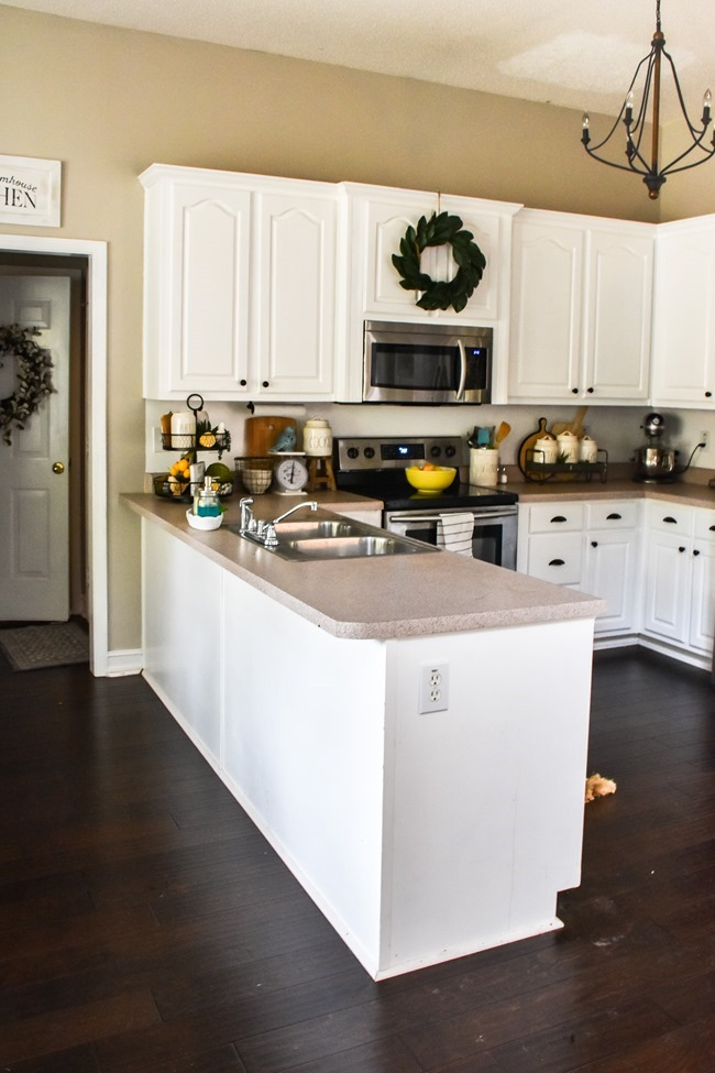 How to shiplap a kitchen penisula or kitchen island-6