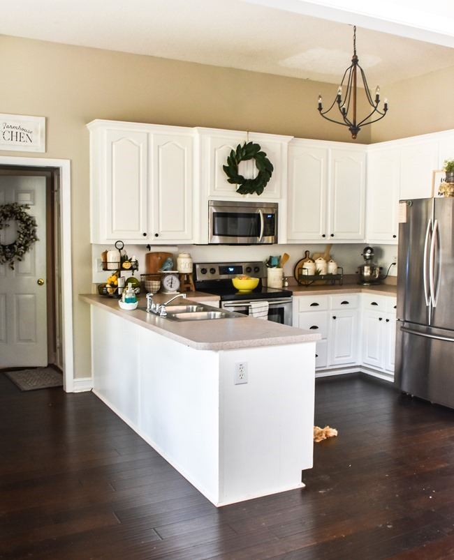 How to shiplap a kitchen penisula or kitchen island-7