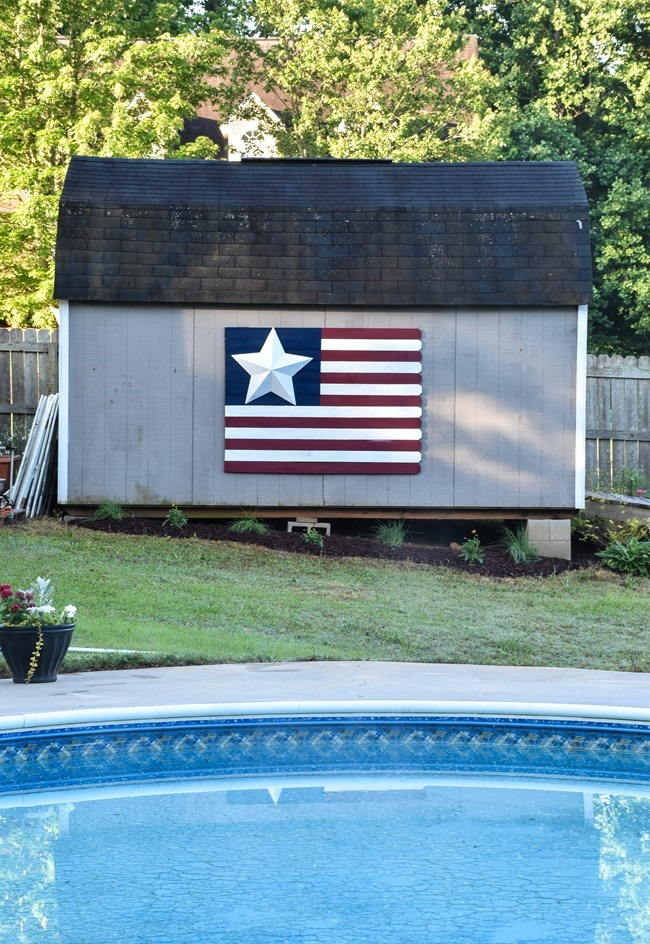 Large Wood Picket American Flag sign-8
