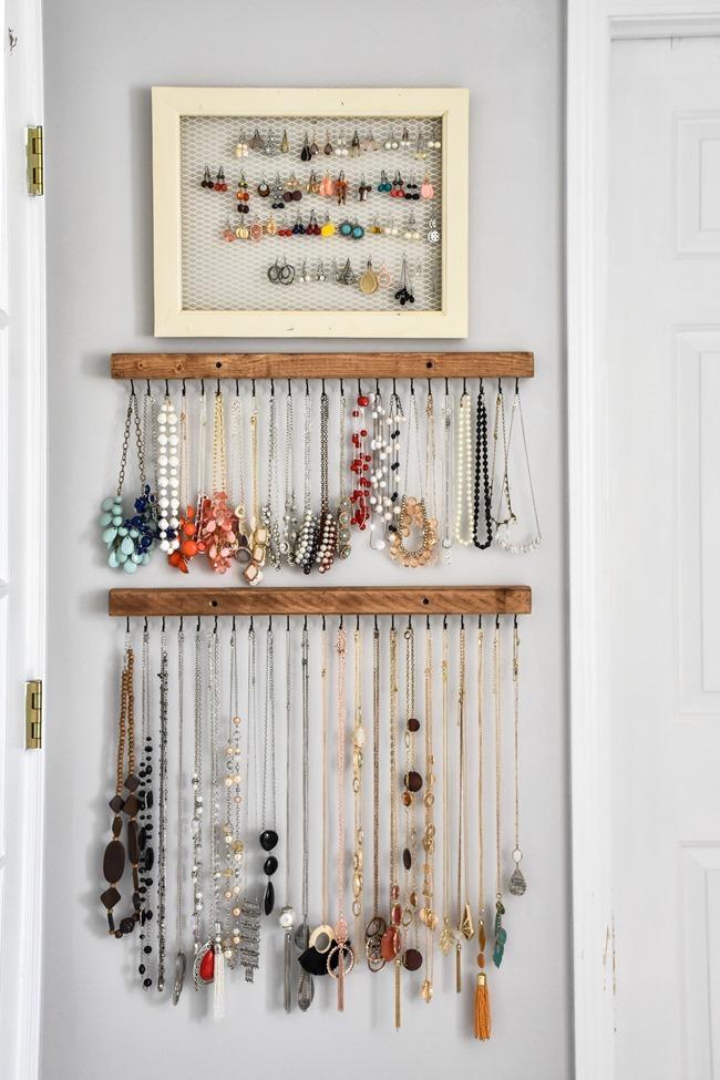 DIY Farmhouse Style Jewelry Organization-3