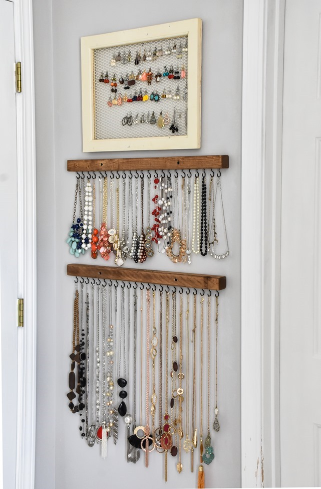 DIY Farmhouse Style Jewelry Organization-9