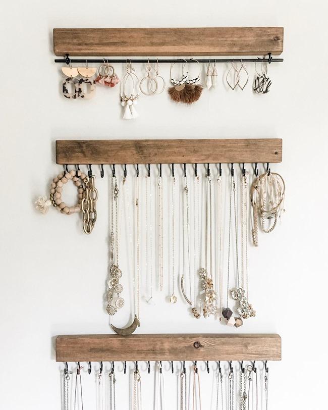 Jessica's jewelry storage