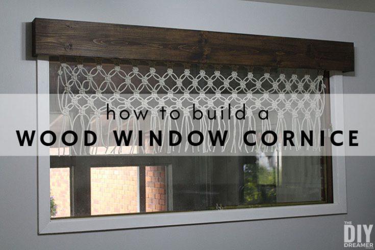 How to Build a Wood Window Cornice
