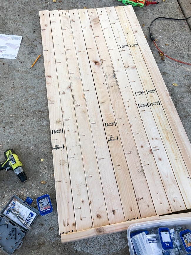 DIY Outdoor Farmhouse Patio Table made with 2x4's-2-2