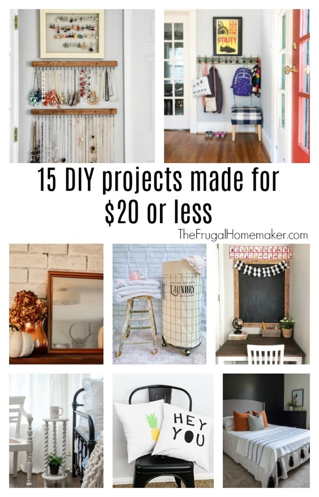 15 DIY projects made for $20 or less