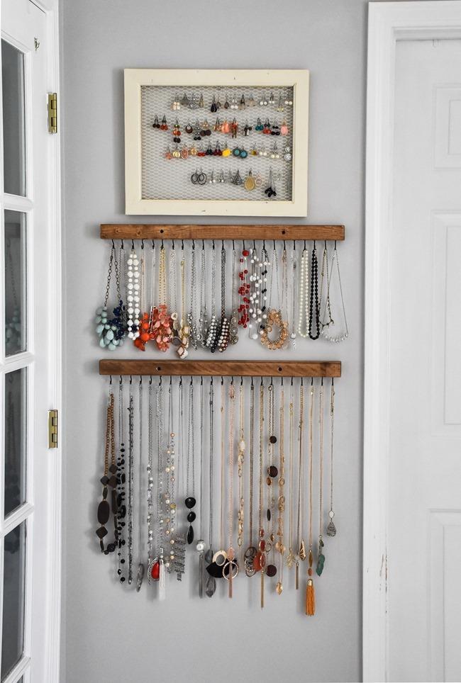 DIY Farmhouse Style Jewelry Organization-1