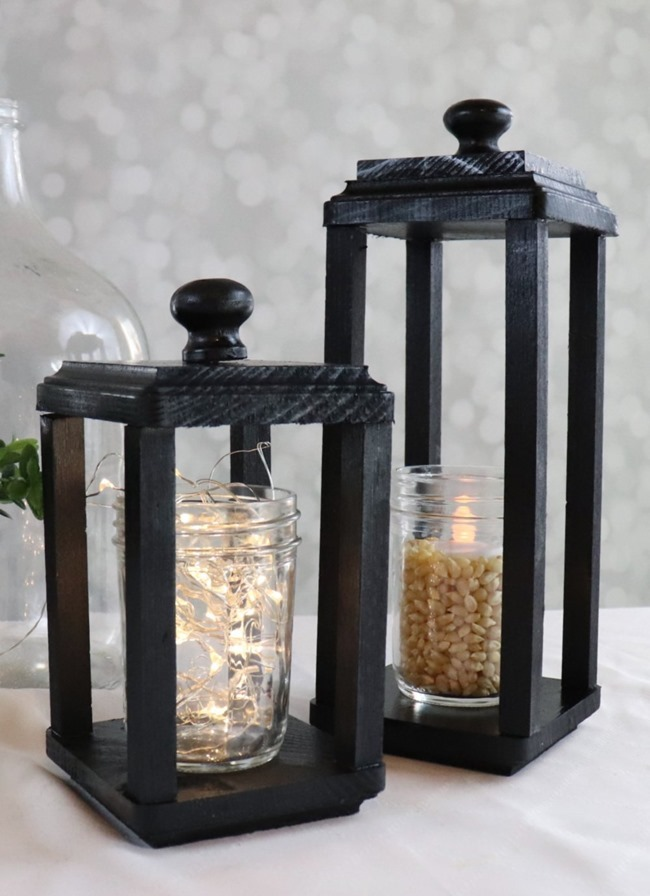 DIY-black-wood-lantern