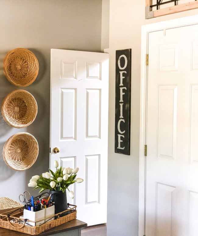 DIY painted Office sign-10