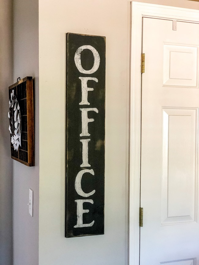 DIY painted Office sign-11