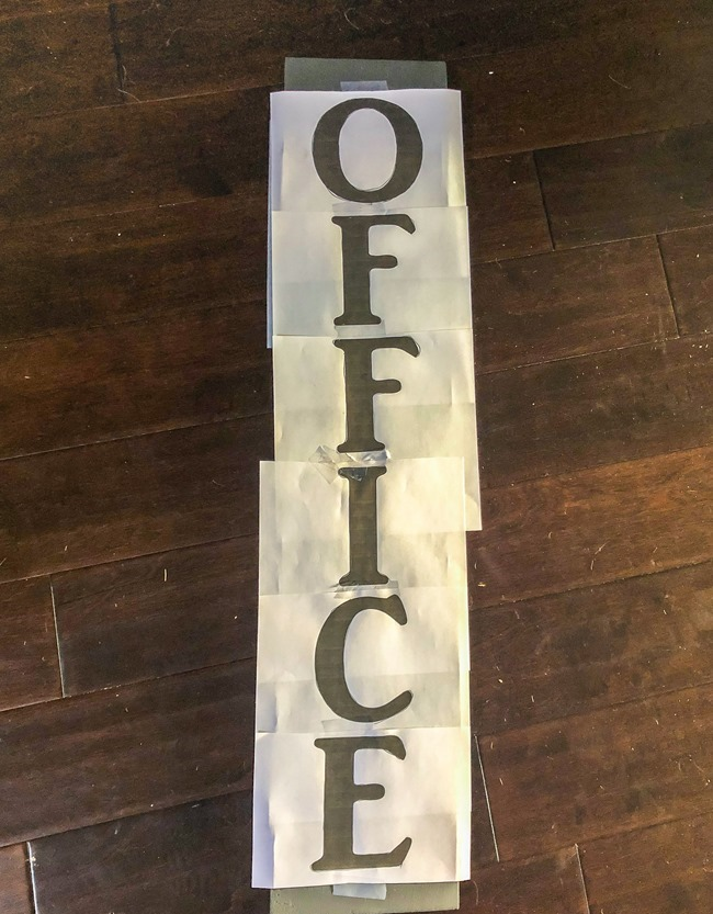 DIY painted Office sign-2