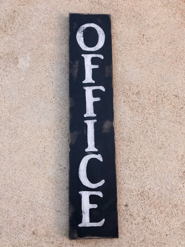 DIY painted Office sign-5